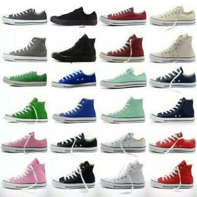 2019 Womens Mens Authentic Classic Athletic Sneakers Low High Top Canvas Shoes