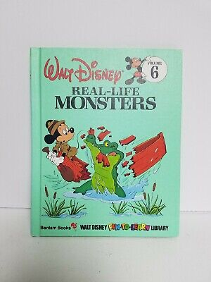 Walt Disney Fun-to-Learn Library Real Life Monsters Volume 6 VINTAGE 1983 Mickey