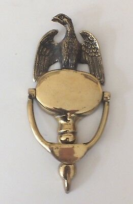 Vintage Brass Eagle Shield Door Knocker Made In England 8 Inches High