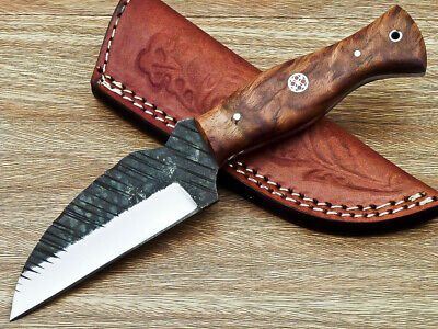 Awesome Custom hand Forged Railroad Spike Carbon Steel Fixed Blade Knife BM-518