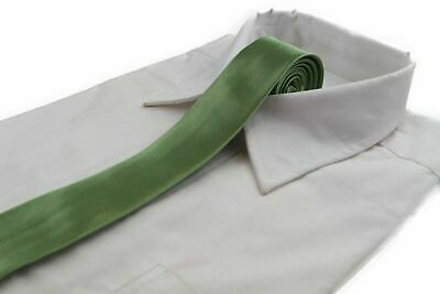*CHEAP* 5CM MENS PALE GREEN TIE Necktie Neck Skinny Ties Wedding Formal Races
