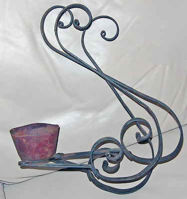 Antique door bell ? Wall Style hand turned wrought iron candle door Bell?