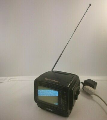"Vtg Action Sport A Vision 4.5"" TV AM/FM REceiver ACN-3504 AC/Car Power Adapter"