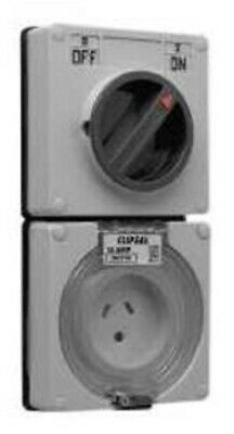 Clipsal 56-SERIES SWITCHED SOCKET 1-Pole 10A 250V 3-Pin, Less Enclosure ORANGE