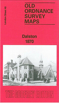 Old Ordnance Survey Map Dalston 1870 Hackney Kingsland Balls Pond De Beauvoir