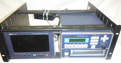 "DataVideo MP6000 recorder and TLM 7"" TFT monitor in rack"
