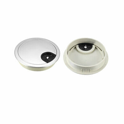 """Cable Hole Cover, 3-1/8"""" ABS Desk Grommet for Wire Organizer, 15 Pcs (Silver)"""