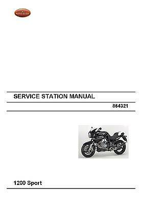 Moto Guzzi workshop service manual 2008 1200 Sport