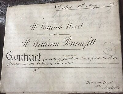 Original Preston Lancashire Indenture 1865 Tenterfield St  £10 BUY IT  NOW