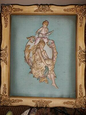 Pair of Antique French Bisque Figurines Framed Open to All Reasonable Offers!!
