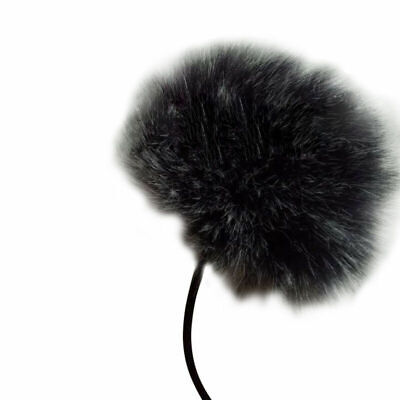 Black Fur Windscreen Windshield Wind Muff For Lapel Lavalier Microphone Mic High