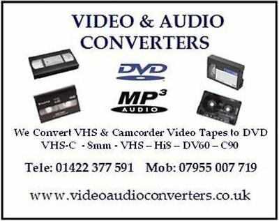 VHS Hi8 Mini DV60 8mm Video to DVD Mp4 USB CD Yorkshire