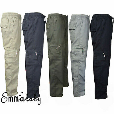 AU Camping Hiking Army Cargo Combat Military Men Casual Straight Trousers Pants