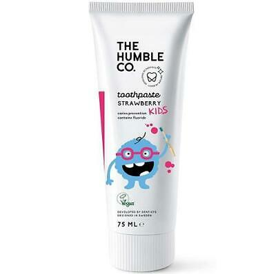 Humble Natural Toothpaste with Fluoride - Kids Strawberry - 75 ml