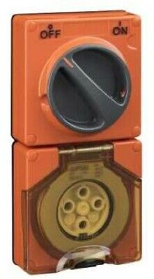 Clipsal 56-SERIES SWITCHED SOCKET 500V 4-Pin Less Enclosure ORANGE- 10A Or 32A
