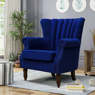Occasional Miniature Sofa Chair Wing Back High Back Fabric Tub Armchair Bedroom