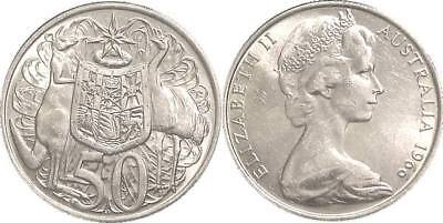 1966 80% Silver Australia  50 cents round coin in great condition FREE POSTAGE
