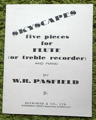 Skyscapes Five Pieces For Flute And Piano - W.R. Pasfield: 1963 inc part  Clean
