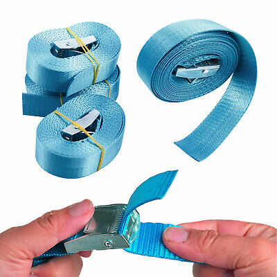 4 Pcs Lashing Straps Cargo Straps with Quick Release Cam Buckle for Trucks