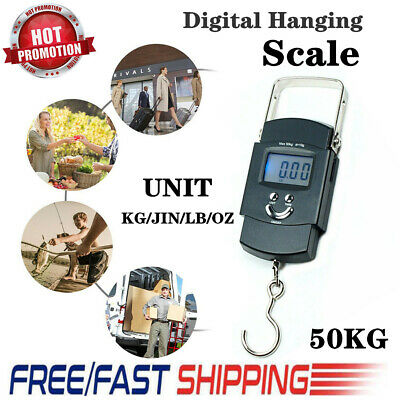 New 50kg Electronic Portable Mini Crane Scale Weight Digital LCD Hanging Hook