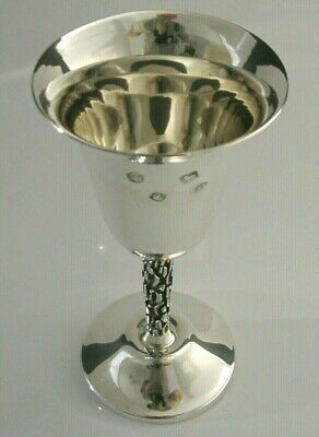 BEAUTIFUL MODERNIST SOLID STERLING SILVER WINE GOBLET or CHALICE 1973 152g