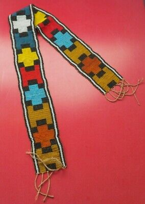 Unusual African Tribal Art Colourful Bead Work Belt Glass Beads South African Nr