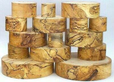 Beautifully Spalted Horse Chestnut woodturning bowl blanks. Big sizes100mm thick