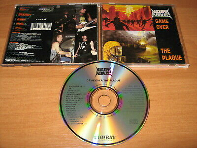 """NUCLEAR ASSAULT """"Game Over / The Plague"""" ORG COMBAT press NOT BOOT RARE OOP!!!"""