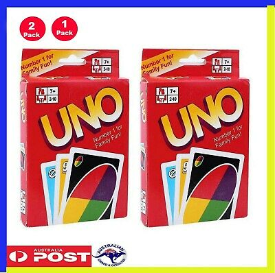 2 UNO Playing Cards Fun Educational Traditional Board Game UnoCards PACK