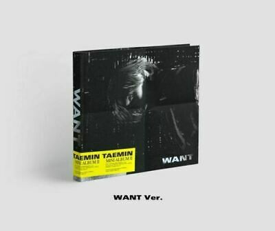 SHINEE TAEMIN - WANT, 2ND MINI ALBUM: WANT ver. CD+PHOTOCARD+TRACKING, SEALED