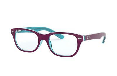 Ray-Ban Junior RB1555 3763 Blue Transparent On Top Purple 46-16-130 Brand New