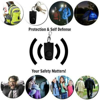 Personal Anti Rape Alarm Keychain  SOS Emergency Self Defense Safety Alarms Supe