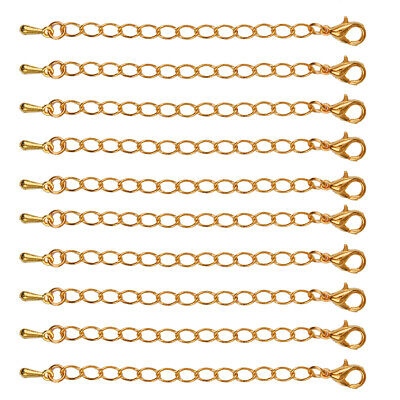 10pcs Necklace Bracelets Extender Chain Gold Alloy Jewelry Findings 75 mm