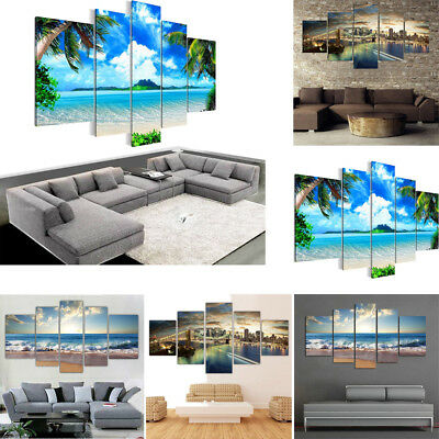 5pcs Unframed Modern Art Oil Painting Print Canvas Picture Home Decoration Hot