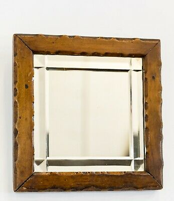 Antique 19th Century Country Small Square Mirror