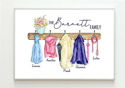 A4 Personalised Build Your Own Family Print House Warming New House  Unframed
