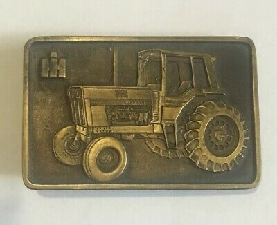 IH International Harvester Belt Buckle  Vintage Tractor Spec-Cast Rockford, IL