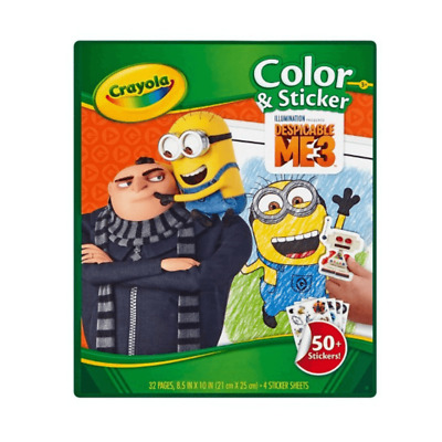 Crayola Despicable Me 3 Colour And Sticker 32 Page  Activity Book 50+ Stickers