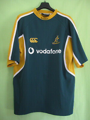 Maillot Rugby Australie WALLABIES Vofafone Jersey Canterbury vintage - L