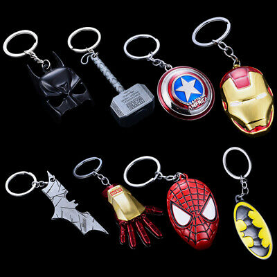 Marvel Avengers Metal Logo Keychain For Apple AirPods Earphone Case Accessories