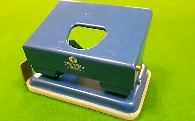 Vintage Retro Rexel Medium Metal Hole Punch  4.5 Inches Wide