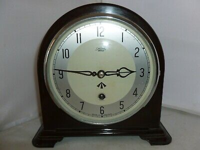 Antique Smiths Bakelite Mantel Clock With Military Broad Arrow