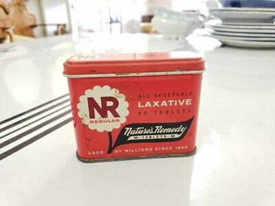 Vintage Metal Nature's Remedy Laxative Tin Advertising