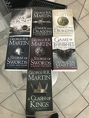 Game Of Thrones Complete Book Set 1-7 George R R Martin VGC As New