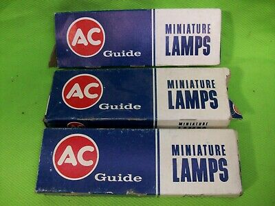 Lot of NOS AC GUIDE GM Vintage Light Bulbs