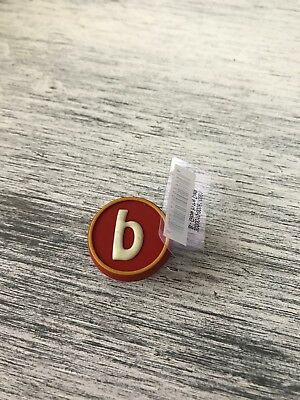 Letter B Glow In The Dark Jibbit Charm For Crocs Shoes Or For Crafting Jewelry & Watches