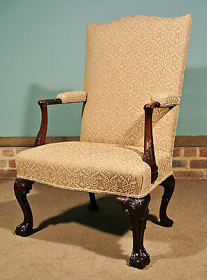 Finest George II Mahogany Gentleman's Chair