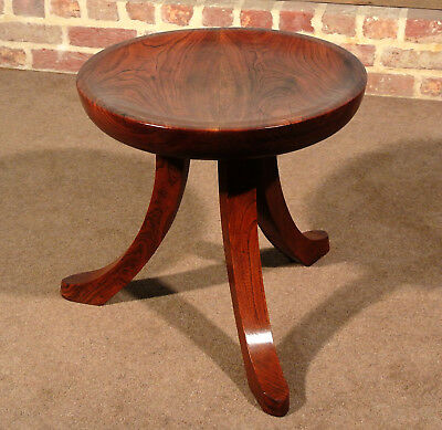 Unusual and Beautiful 'Liberty Thebes' Design Stool in Solid Walnut c. 1900