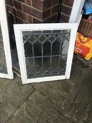 6 pane leaded stained glass window