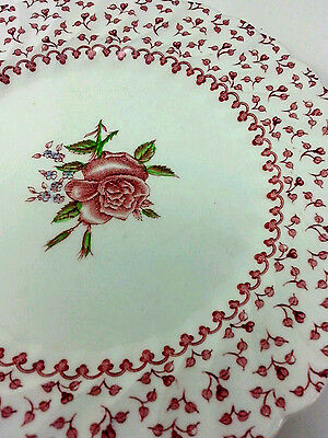 Johnson Bros.Saucers Rose Bouquet Pattern Set Of 2 Made In England